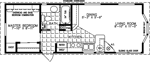 single wide floor-plan