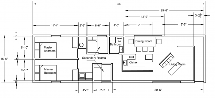 Example of a floor plan